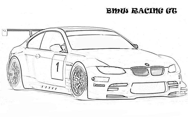 bmw gt racing ausmalbilder  ausmalbilder malvorlagen
