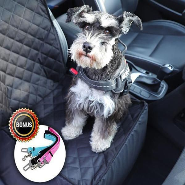 Used as Car Seat Cover, Pet Booster Seat, Pet Front-Seat & Backseat Cover for your puppies and cats. Fold up the baffle and close the zipper as kennel box which allow your dog sit, lay down or stand freely in a place, or flag down the baffle and wrap the car seat as seat cover which is totally protect your leather seats. Main Features:  FAST INSTALL & EASY CLEAN: Our pet seat cover fits most cars and SUV, very easy to install with quick release clips. Easy to clean with a damp...