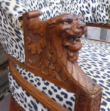 Carved lion head chair arm - 20 Best ANTIQUE CHAIRS Images On Pinterest Bear, Beautiful And