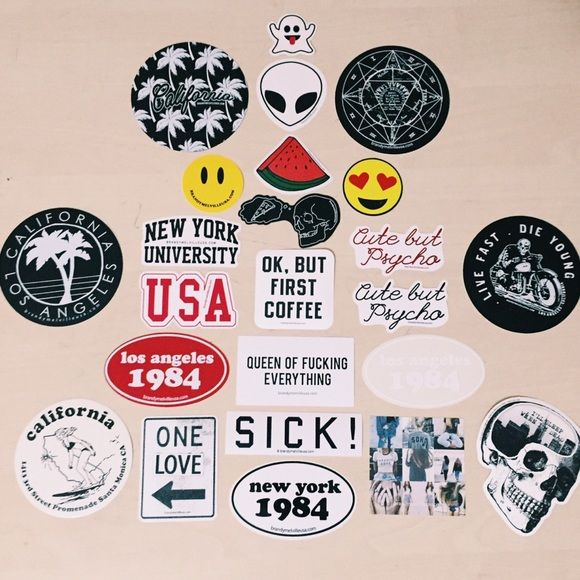 Add on brandy melville stickers 24 brandy melville stickers these are super rare