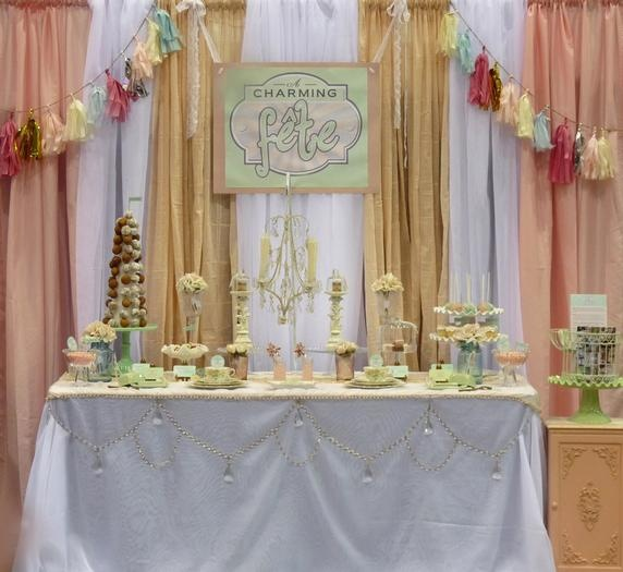 Hostess with the Mostess® - Vintage Shabby Chic Dessert Table