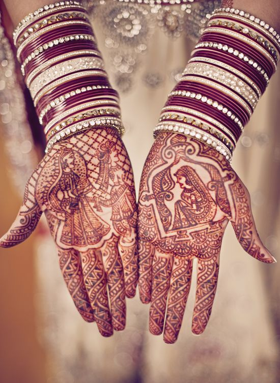 Mehndi works of art at a modern Sikh wedding in Vancouver.