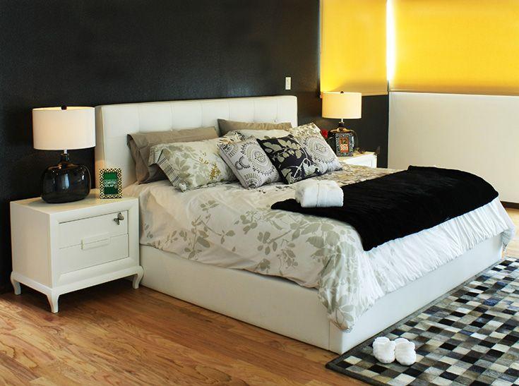 La Recámara principal decorada con patrones orgánicos para hacer mas placentero tu descanso