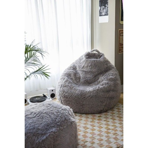 Aspyn Shag Bean Bag Chair ($198) ❤ liked on Polyvore featuring home, furniture, chairs, oversized furniture, beanbag furniture, over sized chair, oversized beanbag chair and bean-bag chair