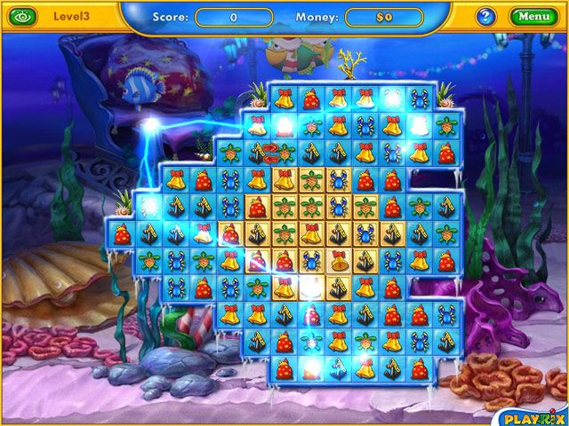 Enjoy winter with Fishdom! Cheer up and spread the merriment of crispy clear days around!  Earn money as you complete challenging match-3 levels and use it to buy festive fishies and winter-themed decorations. If you're looking for a cute holiday themed game that the whole family can enjoy, than this might be a good choice. - See more at: http://freegamemoviesanime.blogspot.com/2014/06/fishdom-frosty-splash.html#sthash.eehcdUBI.dpuf