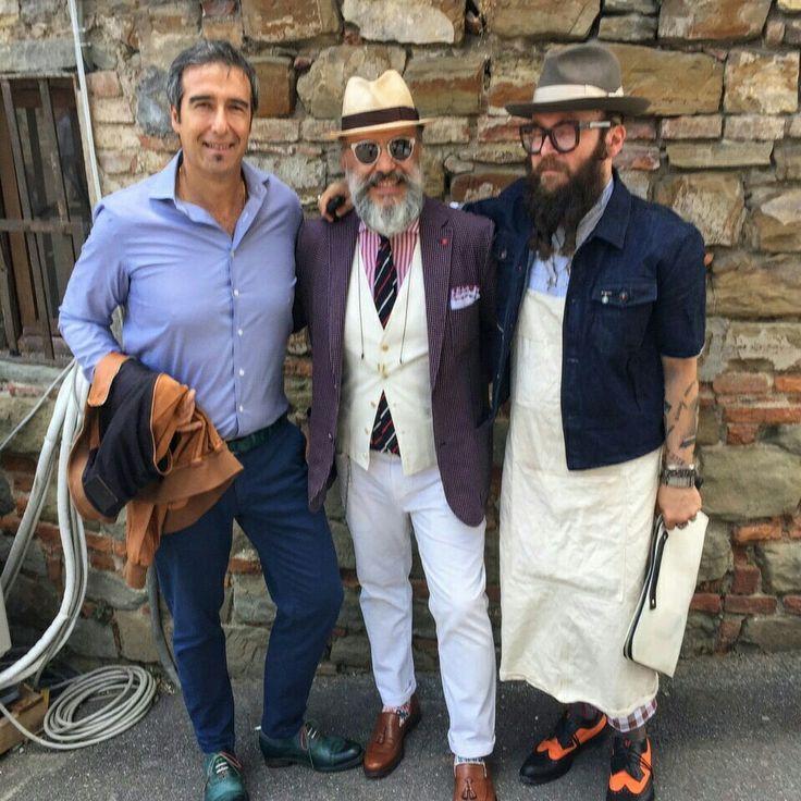 Pitti Uomo with Gianni Fontana and Michael Pretolani
