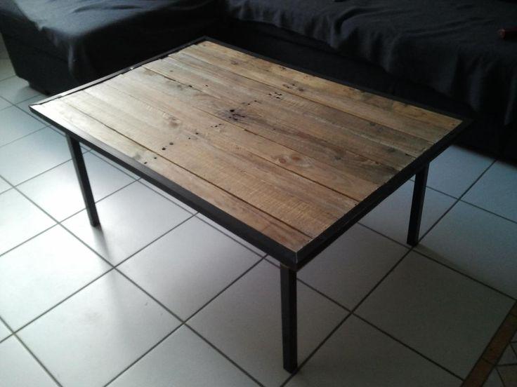 Table Basse Ronde Plateau Amovible ~ Table Basse En Bois De Palette 1 Jpg  D I Y  Pinterest