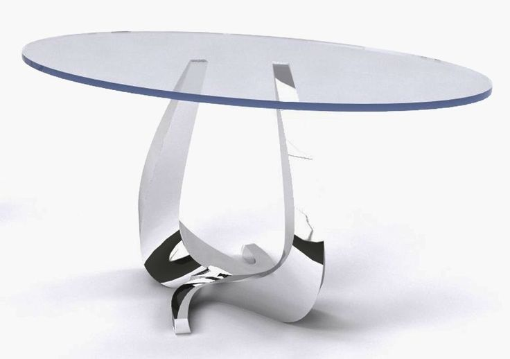 "We are loving this ""Flow"" design concept by DIA designer Michael Wolk. These stainless steel and glass tables take a new twist on serpentine shapes. #hpmkt #dia #design #tabletalk"