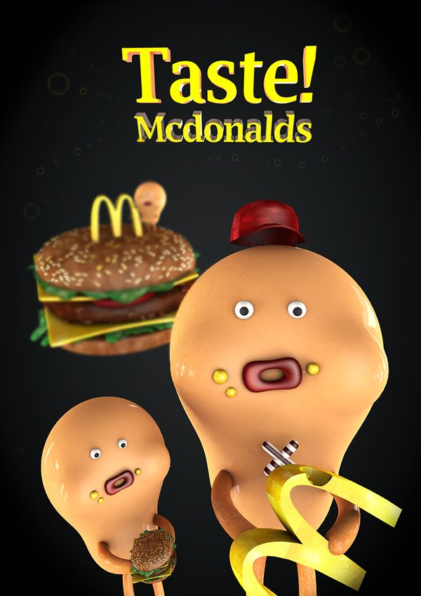 Taste! Mcdonald's by Kim Da-eun, via Behance