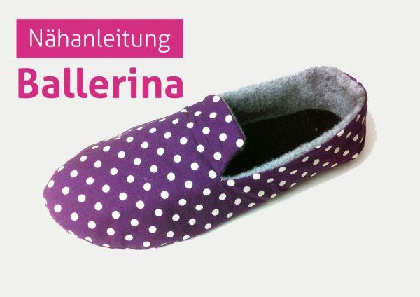 PDF Nähanleitung Ballerina Hausschuhe Schuhe