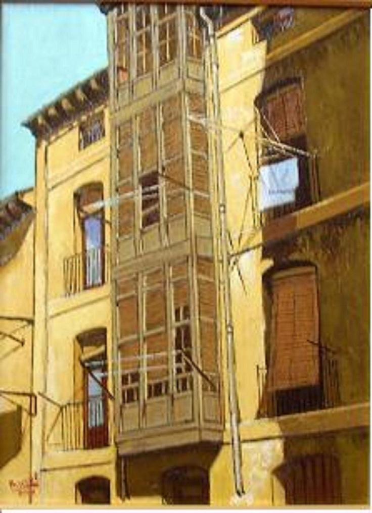 Titulo: Balcones, óleo sobre tabla, 40 x 30, 300 €