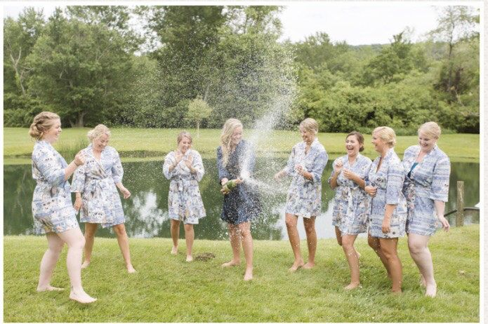 Le Rose Real Bride and her Bridesmaids! How fun does this look! Xx #lerose #bridalrobes