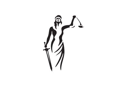 black and white lady justice - Google Search