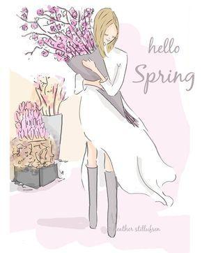 """Hello Spring! (""""Rose Hill Design Hello Spring."""")"""