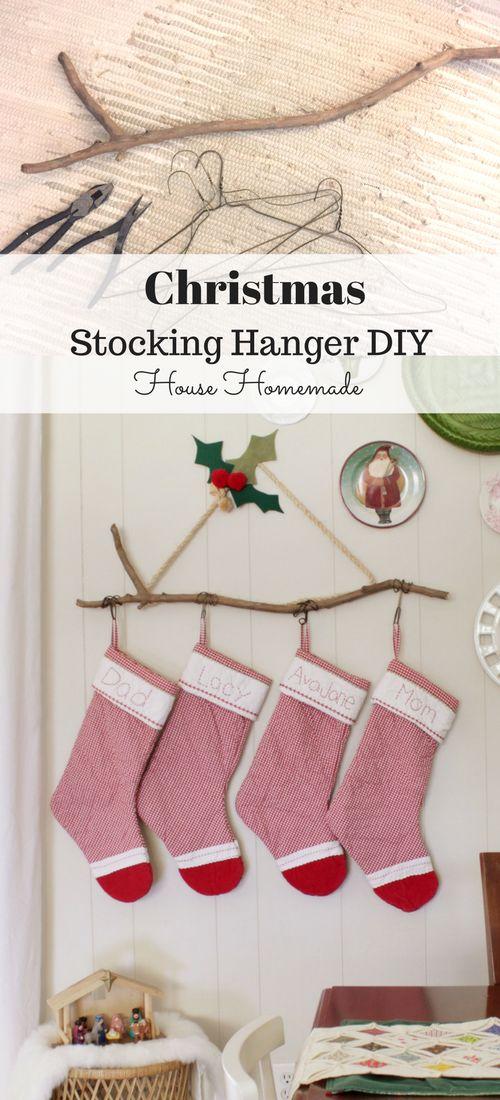 House Homemade: DIY Christmas Stocking Hanger