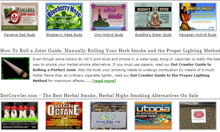 Herbal incense online head shop