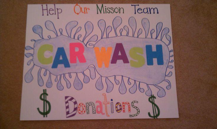 Car wash poster ideas.