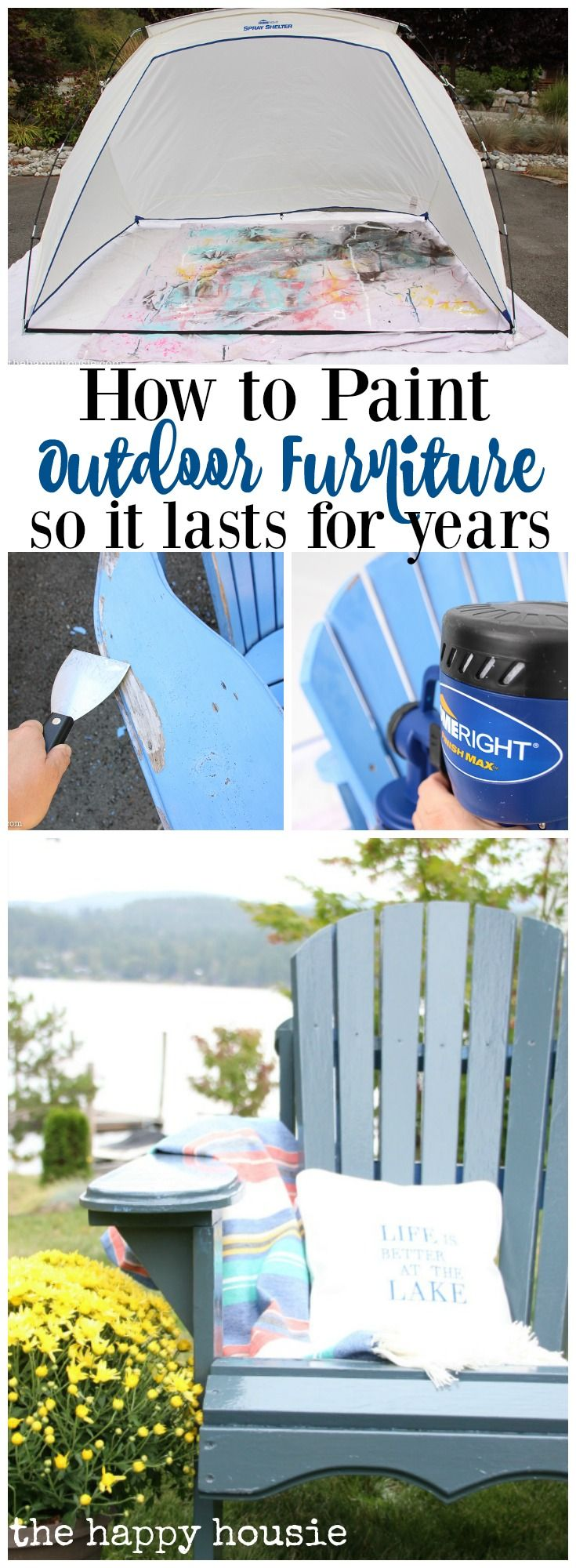 The best way to paint your outdoor furniture so that the finish lasts for years in the elements