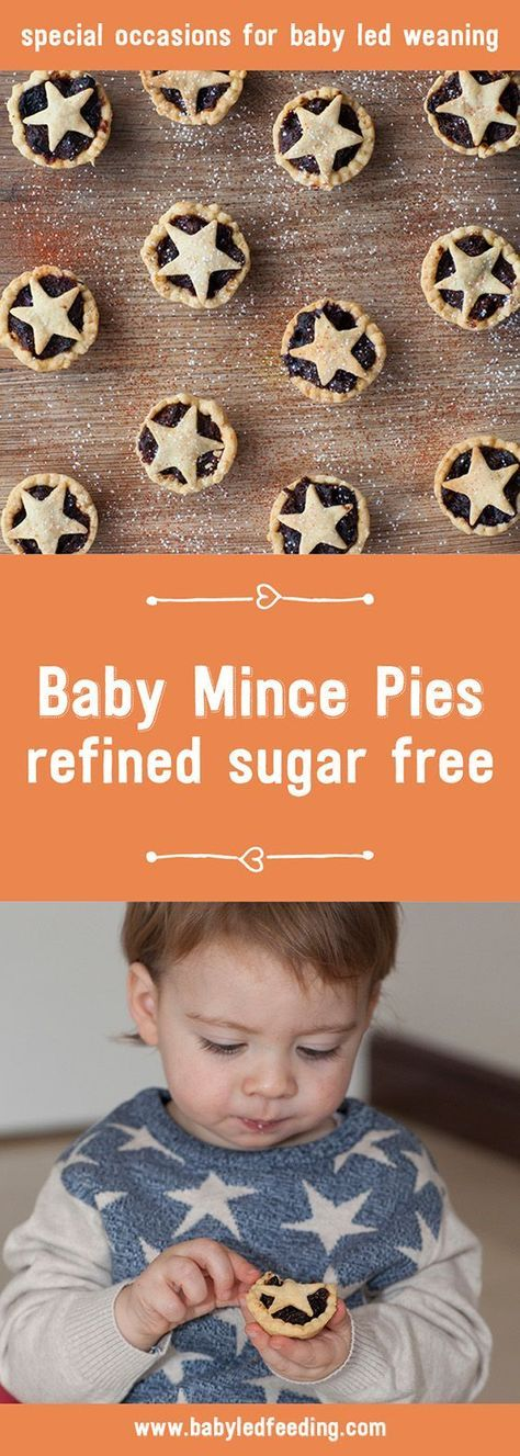 These Christmas Baby Mince Pies are naturally sweetened with fruit and small for tiny hands to easily manage. These pies are great for blw.