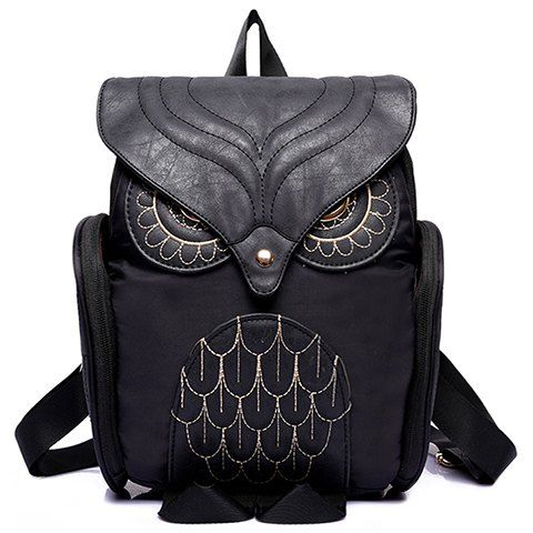 Trendy Women s Satchel With Owl Shape and Solid Color Design