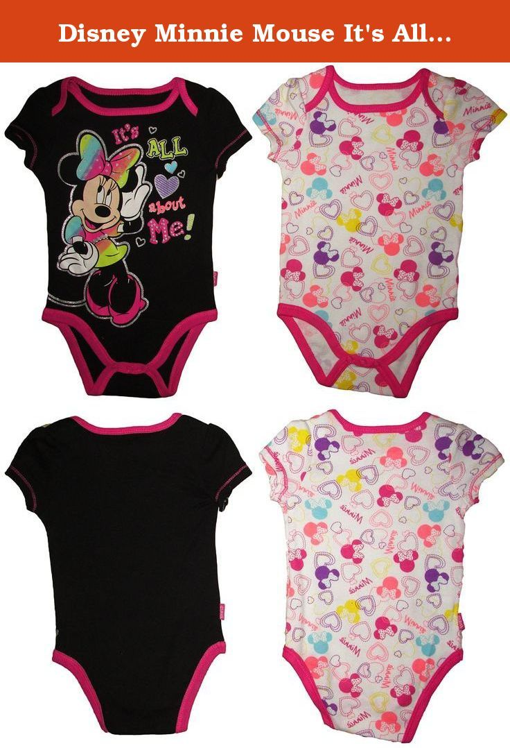 Disney Minnie Mouse It's All About Me Baby Infant 2 Pack Creeper Set (0/3M). Disney Minnie Mouse It's All About Me Baby Infant 2 Pack Creeper Set.