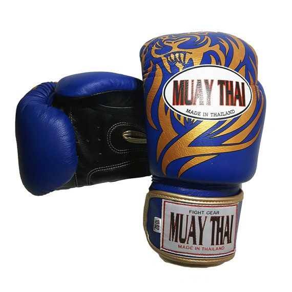 Tiger muay thai glove synthetic leather by Muaythaioem on Etsy