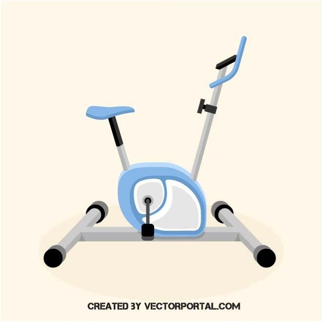 Stationary bicycle vector.