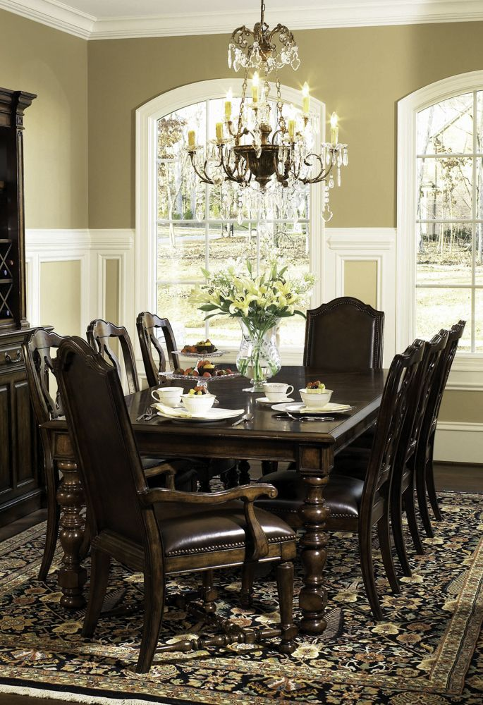 Formal dining room sets bernhardt furniture normandie for Pictures of formal dining rooms