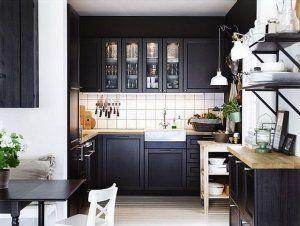Czarne meble kuchenne