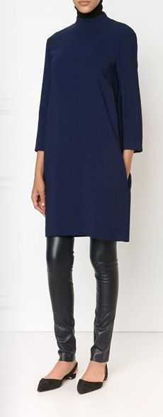 dress/tunic over leather leggings