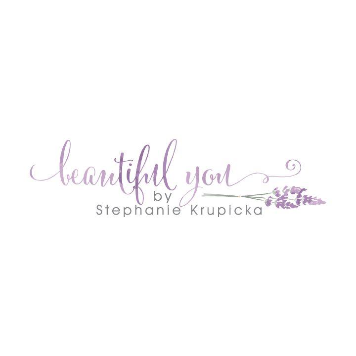 Beautiful You Logo  |  Watercolor lavender logo design | Photography Logo | Designed by www.theautumnrabbit.com