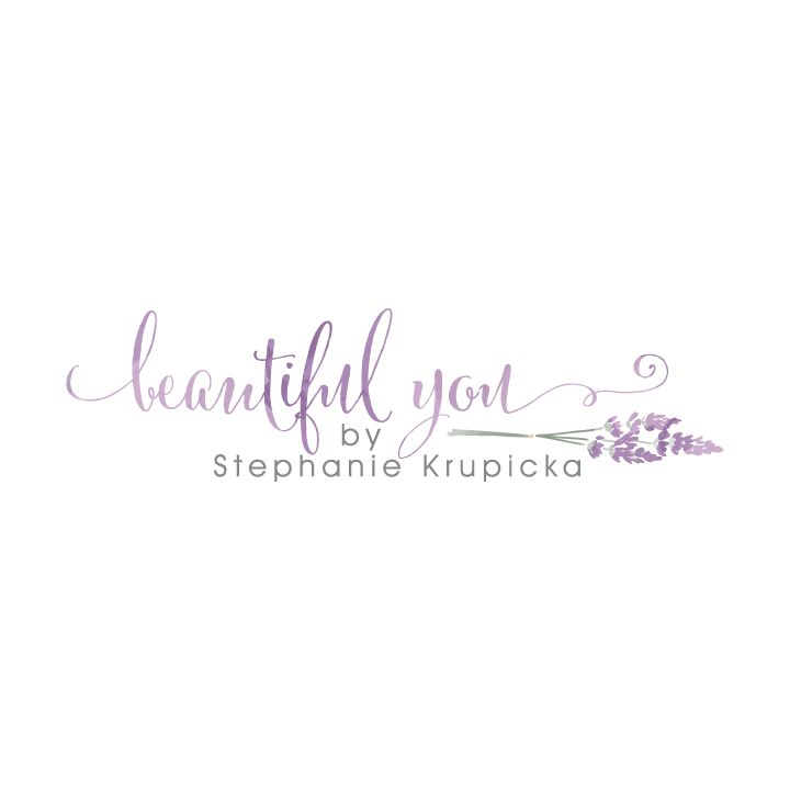 Beautiful You Logo  |  Watercolor lavender logo design | Photography Logo | Designed by www.theautumnrabbit.com
