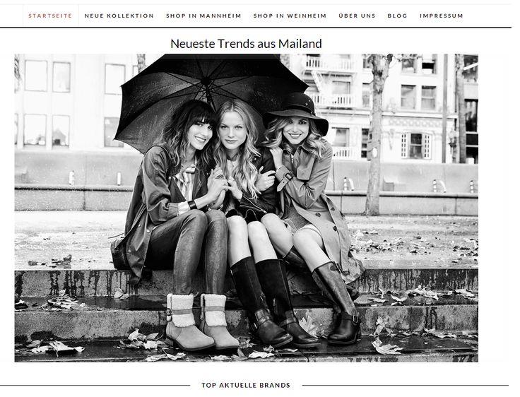Webseite für Pellegrini-Schuhe in Mannheim und Weinheim.