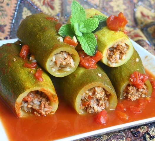 Try zucchini stuffed with boudin!