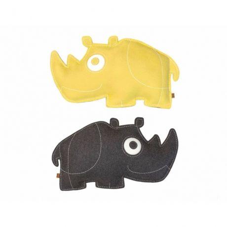ZooperPets Næsehorn pude fra WhatWeDo - Børneværelse - DesignFund