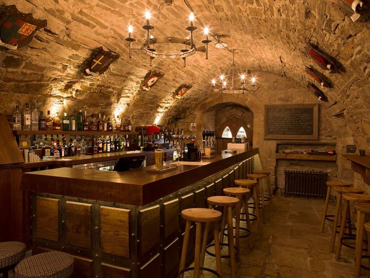 The Crypt Bar At Lord Crewe Arms A Traditional Cellar Serving Ales