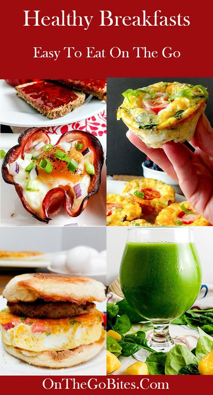 healthy breakfasts for work roundup | picnic recipes | pinterest