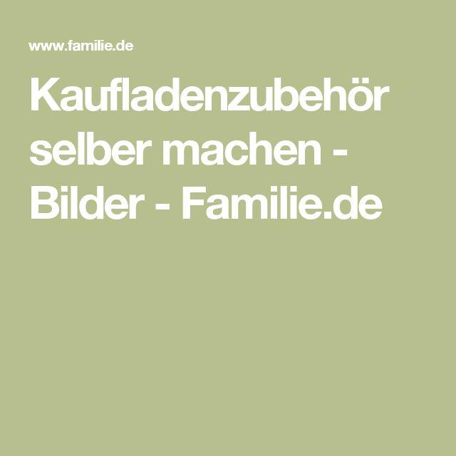 Kaufladenzubehör selber machen - Bilder - Familie.de