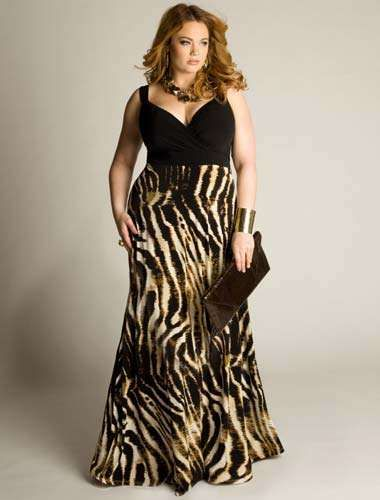 Plus size zebra dress xv