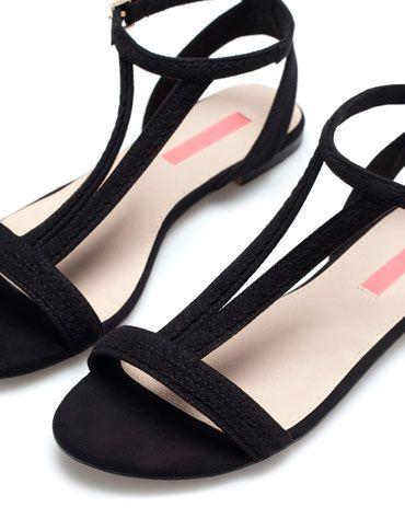 Sandaal BSK, gevlochten