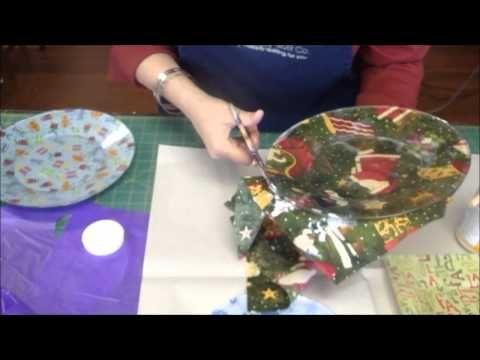 Cute holiday fabric plates