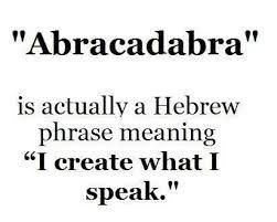 abracadabra is actually a hebrew phrase - Google Search