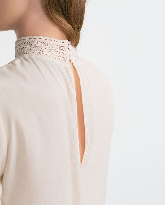 37 best images about blusas cuello alto on Pinterest | Chiffon shirt Zara and Search