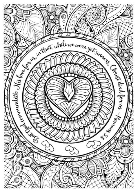 675 best images about art zentangle heart on pinterest Religious coloring books for adults