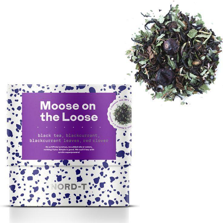 MOOSE ON THE LOOSE Moose sightings are the norm in Scandinavia. Chances are that a moose or two are always running around wherever you go. Further north, you may see more reindeer than moose, but what is certain is that some big animal is likely hiding behind the trees.  BLACK TEA BLEND