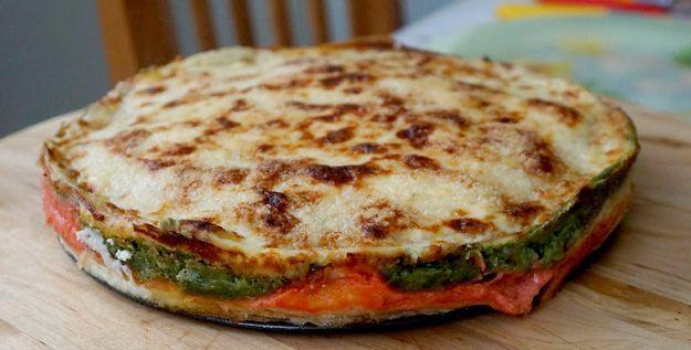 Lasagne di crepes tricolori - http://www.piccolericette.net/piccolericette/lasagne-di-crepes-tricolori/