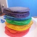 Rainbow Pancakes Fun Breakfast Food for Kids – St. Patrick's Day Foods