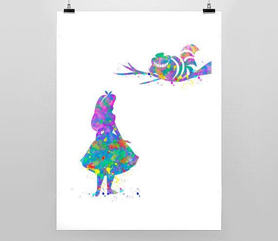 Alice in Wonderland Print  Nursery Children's by MixedMediaPrints, $4.50