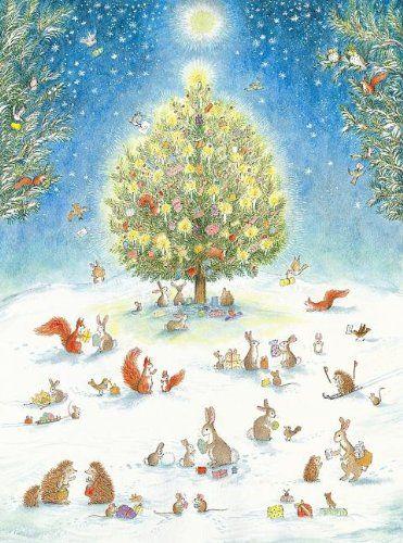 A Woodland Christmas Advent Calendar by Bernadette Watts http://www.amazon.com/dp/0735822441/ref=cm_sw_r_pi_dp_NndIwb111V126