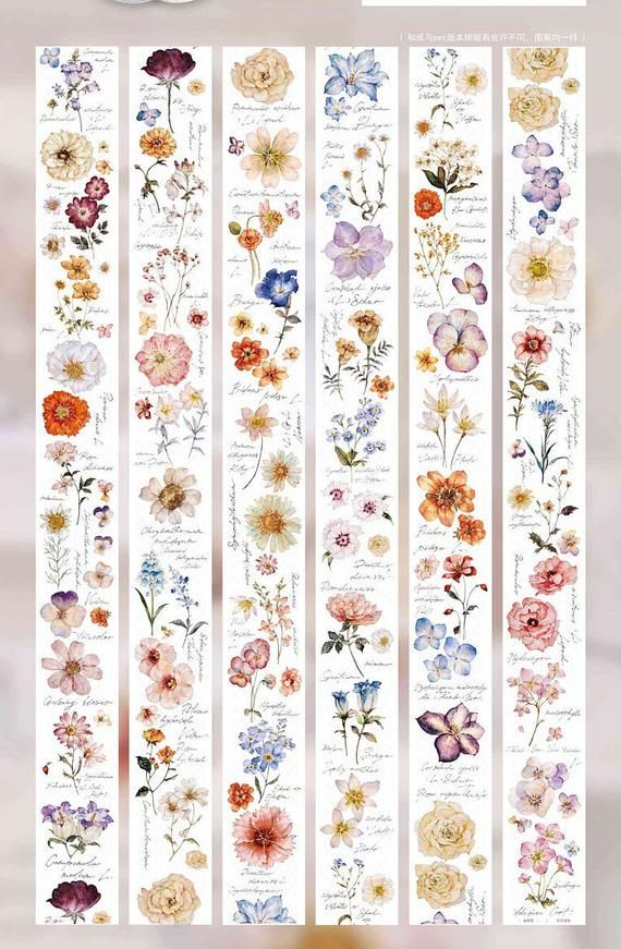 Fresh Bouquet Washi Tape 8//Pkg